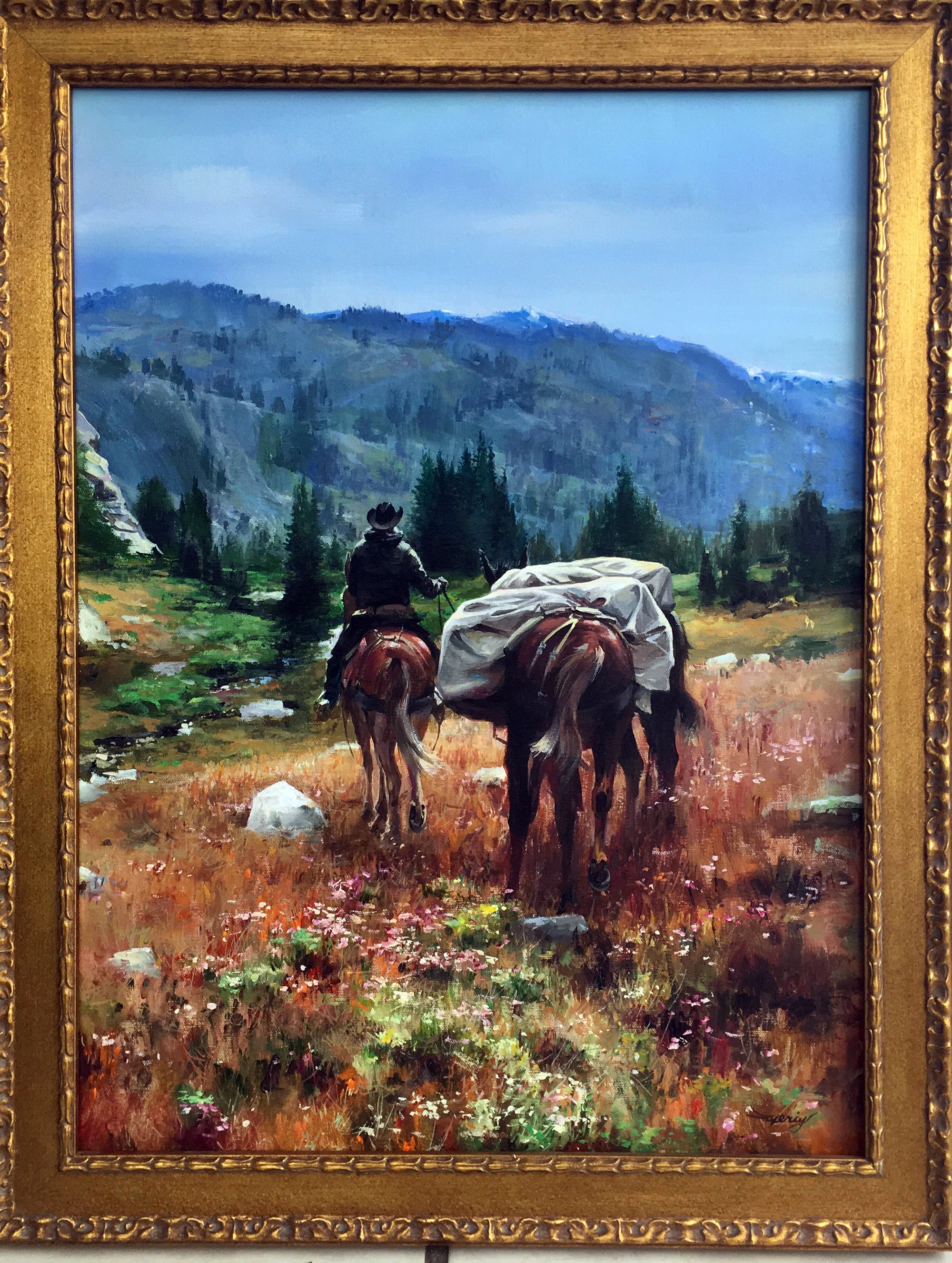 Valeriy Kagounkin Wind River High Counrty acrylic on canvas size 18 24 inch